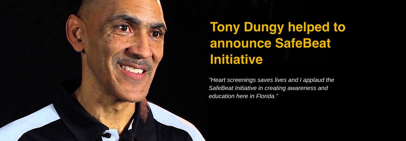Tony Dungy helped to announce SafeBeat Initiative