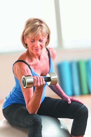 Add strength training to your home workout to boost your cardiovascular fitness.