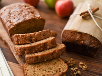 Apple Walnut Bread is quick and easy for the holidays
