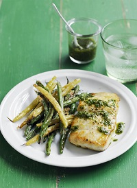 Cod With Crispy Green Beans