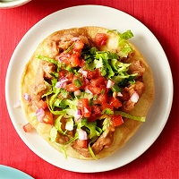 Refried Bean Tostadas With Pico De Gallo