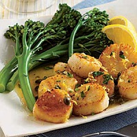Scallops With Lemon And Capers