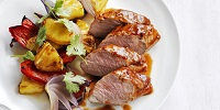Sweet And Smoky Pork Tenderloin With Pineapple And Peppers