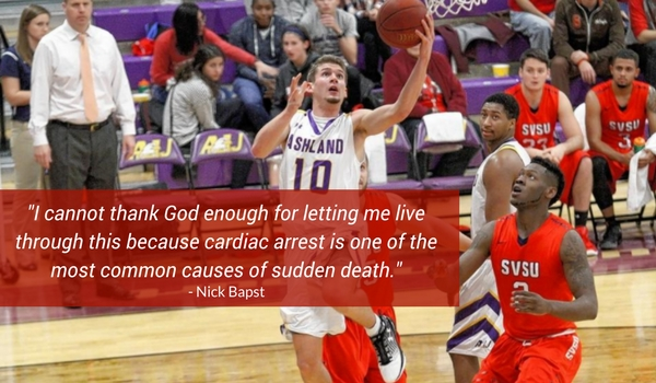 Ashland University basketball player stays positive