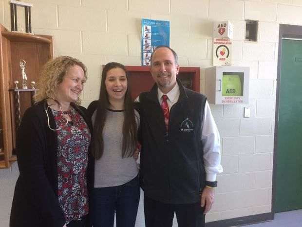 Tantasqua student donates AED to school, device saved her life