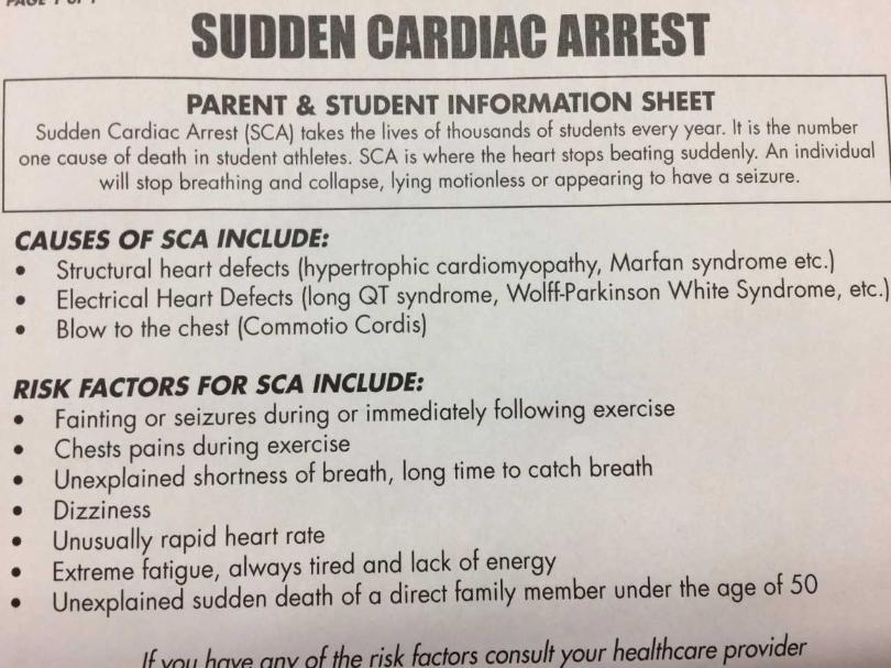 New resource for student athletes about Sudden Cardiac Arrest